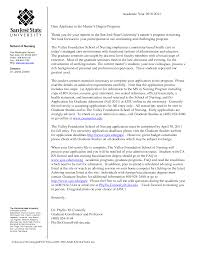 Letter Of Recommendation Sample Nursing Graduate School