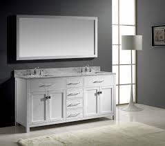 brushed nickel mirror. Bathroom Elegant Vanity Set With Mirror And In Brushed Nickel Idea 3