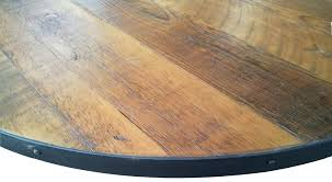 round wood table top table top round reclaimed wood tabletop with metal edge wooden table tops