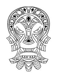Masque Africain 4 Coloriage De Masques Coloriages Pour Enfants