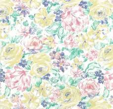 Vintage Shand Kydd Floral Wallpaper Pink Yellow Green 20910 D Rs