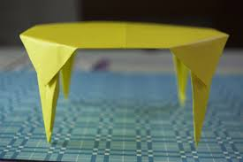 How To Make A Paper Table Origami Youtube