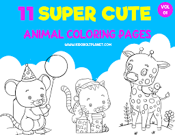 Download pets and wild animals coloring sheets. 11 Super Cute Animal Coloring Pages Vol 01 Free Printable