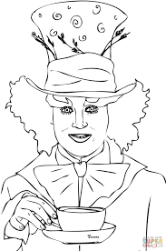 Small Picture Mad Hatter Tea Party coloring page Free Printable Coloring Pages
