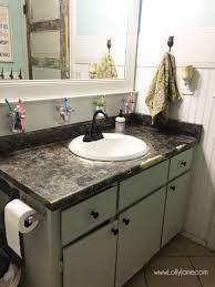 i chalk painted my bathroom countertops i actually love my chalk paint laminate countertops