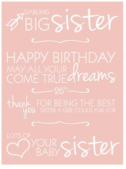 birthday message for younger sister tumblr