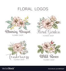 Floral Logo Design Free Download Flower Logo Shop