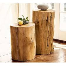 Stylish Wood Accent Table Reclaimed Wood Tables And Salvaged Furniture Tree Stump  Side Table