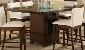 Homelegance Elmhurst Counter Height Table With Wine Storage 1410