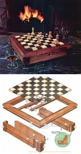 Wooden Board Games Plans Chess Board Plans Woodworking Plans and Projects WoodArchivist 15