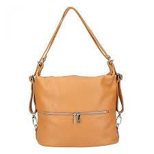 leather shoulder bag backpack 328 cognac
