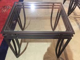glass top metal end table 3089717a jpg