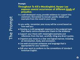 to kill a mockingbird literary analysis explanation ppt the prompt prompt throughout to kill a mockingbird harper lee exposes several occurrences of