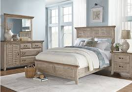 picture of Nantucket Breeze White 5 Pc King Panel Bedroom from King Bedroom  Sets Furniture