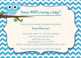 Baby Shower Invitation For Boy Owl Baby Boy Shower Invitation Owl Baby Shower Invitations For Boy