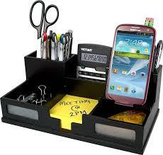 com victor wood desk organizer with smart phone holder midnight black 9525 5 office s