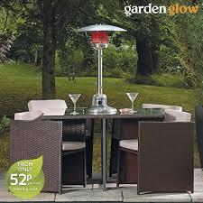 garden glow table patio heater cover