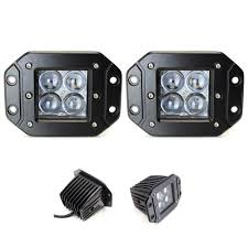 20w Cree Led Work Light 2x Flush Mount 20w Led Work Lights Cree Pods Dually Bars Lamps W Dt Wires Spot 4d 5d