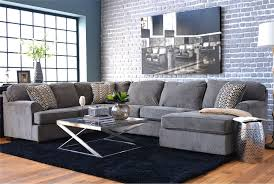 Sectional Living Room Loric Smoke 3 Piece Sectional W Raf Chaise Living Spaces