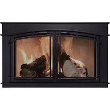 Pleasant Hearth Fieldcrest Fireplace Glass Door U2014 Black Model FC Black Fireplace Doors