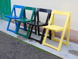set of folding chairs. Vintage Folding Chairs By Aldo Jacober For Alberto Bazzani, Set Of 4 T