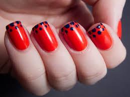 14 Simple Red Nail Art Design For Girls - Katty Nails - Katty Nails