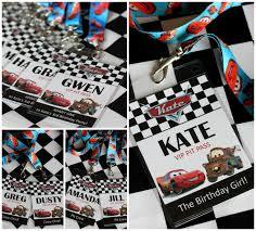 cars birthday party printables