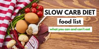 Fast Carbs And Slow Carbs Chart Slow Carb Diet Food List What You Can Cant Eat