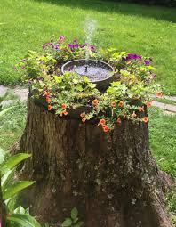 Sandy Stump Garden W Solar Fountain By Ferg52 Tree Stumps