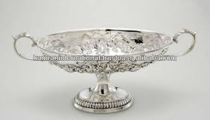 Decorative Metal Fruit Bowls Silver Antique Embossed Fruit BowlLarge Fruit BowlModern Metal 3