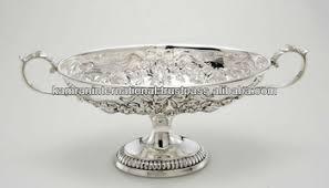 Large Silver Decorative Bowl Silver Antique Embossed Fruit BowlLarge Fruit BowlModern Metal 11