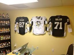 Pittsburgh Penguins Bedroom Decor Ultra Mount Jersey Display Hangers Help Create The Ultimate