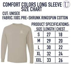Comfort Colors Unisex Size Chart American Bald Eagle Comfort Colors Long Sleeve