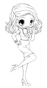 Chibi Coloring Pages Get This Kids Printable Free Online Cute
