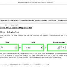 Paper Size Chart Pdf Dimensions Of A Paper Sizes A0 A1 A2 A3 A4 A5 A6 A7