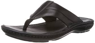 Mens Leather Bedroom Slippers Clarks Mens Villa Beach Leather Flip Flops And House Slippers