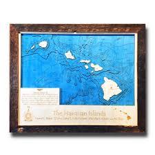 hawaiian islands hi 3 d nautical wood