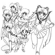 Disegno Di Personaggi Sailor Moon Da Colorare Per Bambini