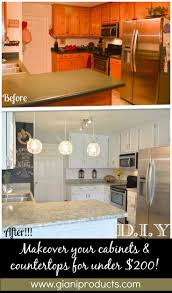 DIY Paint Kits to revamp countertops and cabinets. www