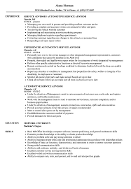 Automotive Service Advisor Resume Samples Velvet Jobs