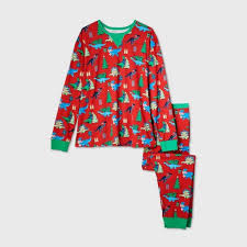 Men's Big & Tall Holiday <b>Dinosaur Print</b> Matching Family Pajama Set ...