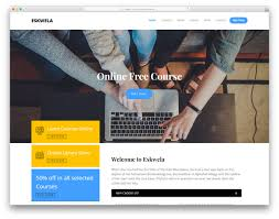 tamplate eskwela free online learning website template colorlib