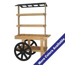 wood display cart w angled open roof acrylic displays acrylic pop displays