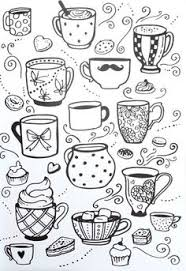 Small Picture tea cups coloring pages adults Google Search Tea party