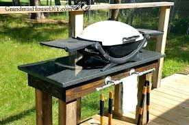 outdoor grill how to build an station with a pipe rack posts diy built in bbq