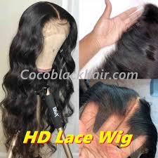 Clover 10a Grade Hd Lace Wig Body Wave Pre Plucked Brazilian