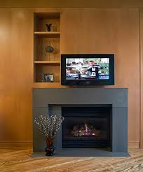 image of contemporary gas fireplace surrounds