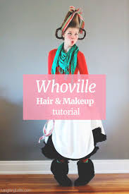 how the grinch stole whoville hair and makeup tutorial with a free printable grinch mask