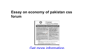 essay on economy of css forum google docs