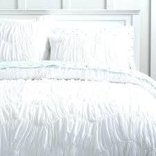 ruffled duvet cover waterfall ruffle duvet covers brilliant organic tide ruched duvet cover sham in white
